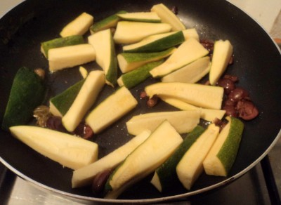 Zucchine trifolate alle olive